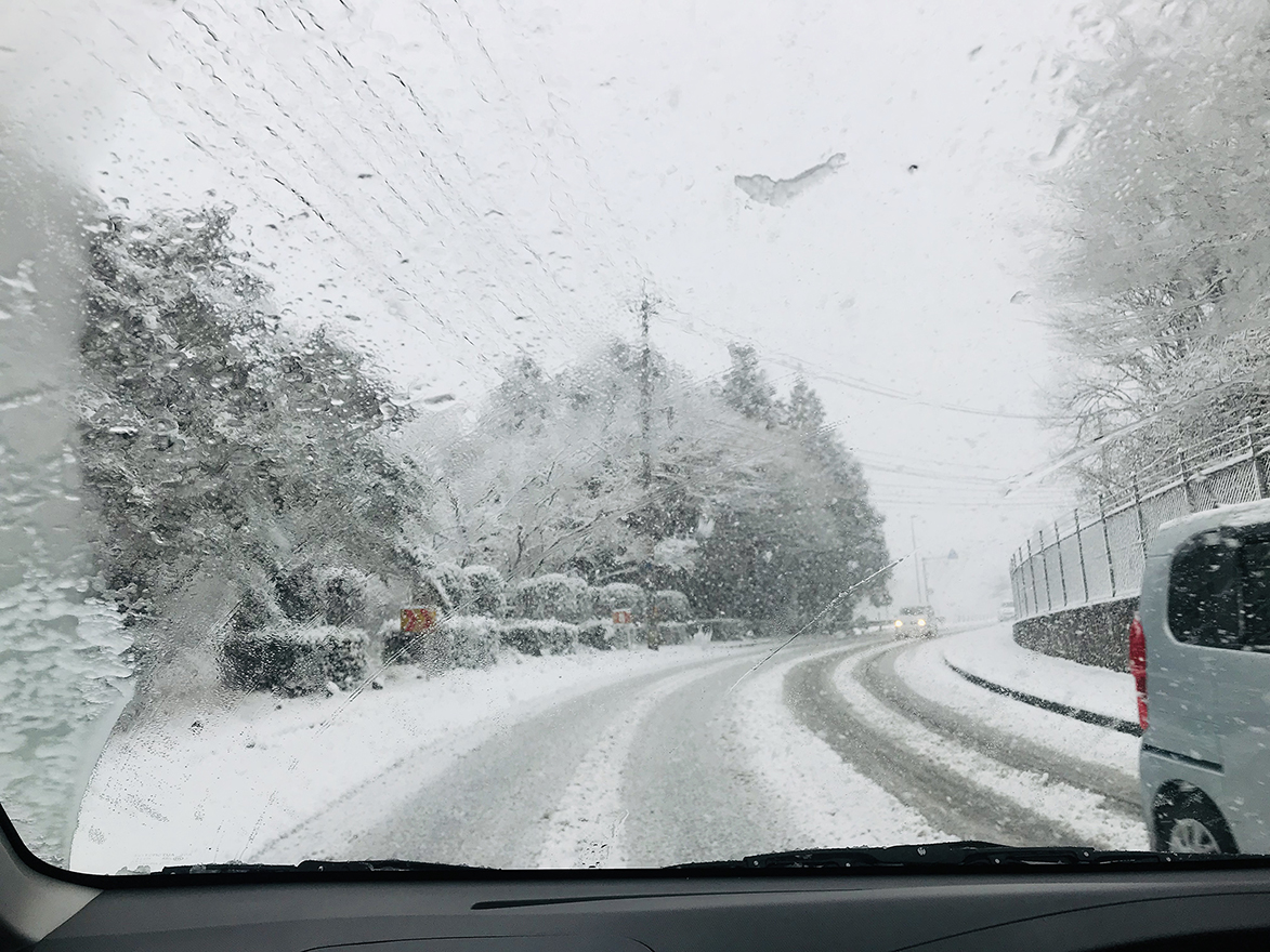 今季はじめての本格的積雪